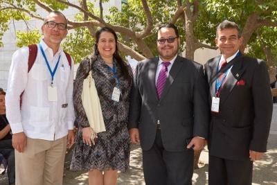 Carlos Méndez,Isabel Di Carlo, Pedro Albarrán y José Pereira