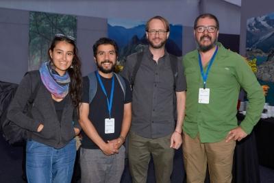 Martina Gajardo, Ariel Muñoz, Jordan Harris y Alvaro Gonzalez