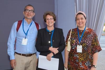 Carlos Mendez, Thelma Krug y Isabel Di Carlo